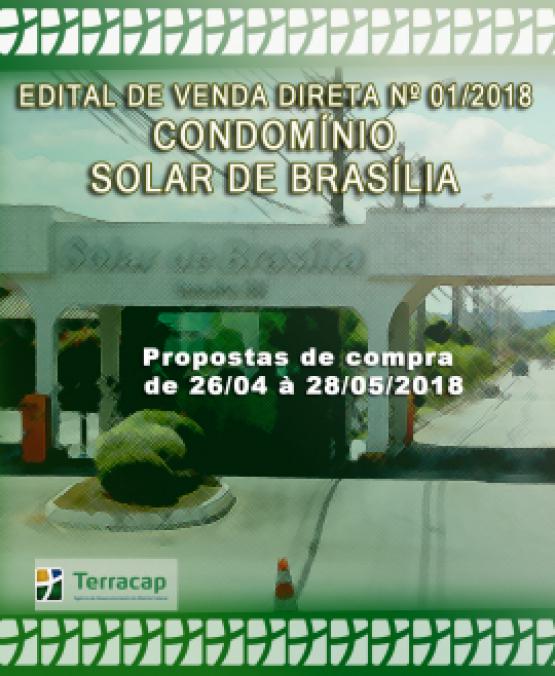 EDITAL DE CONVOCAÇÃO PARA VENDA DIRETA Nº 01/2018 - SOLAR DE BRASÍLIA