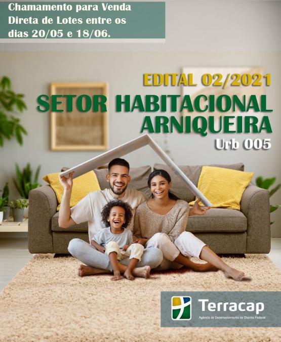 Edital 02/2021 - Venda Direta Arniqueira URB 05