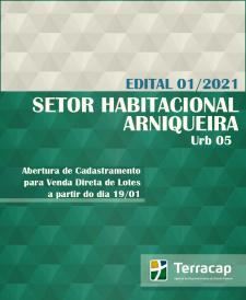 CADASTRAMENTO PARA VENDA DIRETA DE LOTES EM ARNIQUEIRA - URB 05