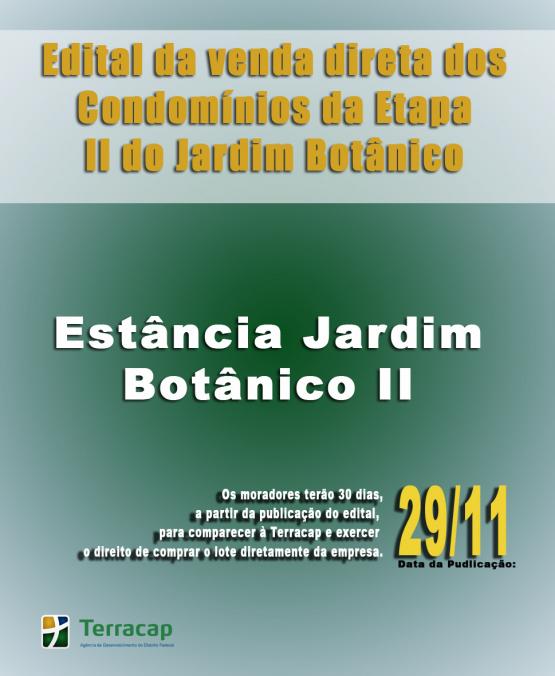 EDITAL DE CONVOCAÇÃO PARA VENDA DIRETA - ESTÂNCIA JARDIM BOTÂNICO II