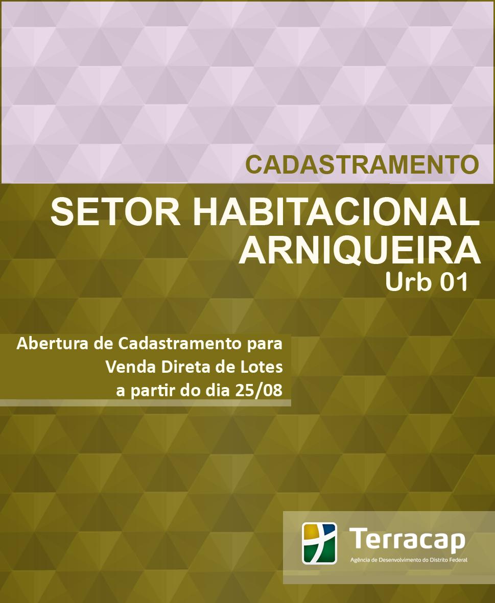 CADASTRAMENTO PARA VENDA DIRETA DE LOTES DE ARNIQUEIRA URB 01