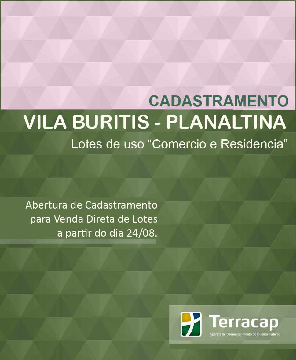 CADASTRAMENTO PARA VENDA DIRETA DE LOTES DA VILA BURITIS