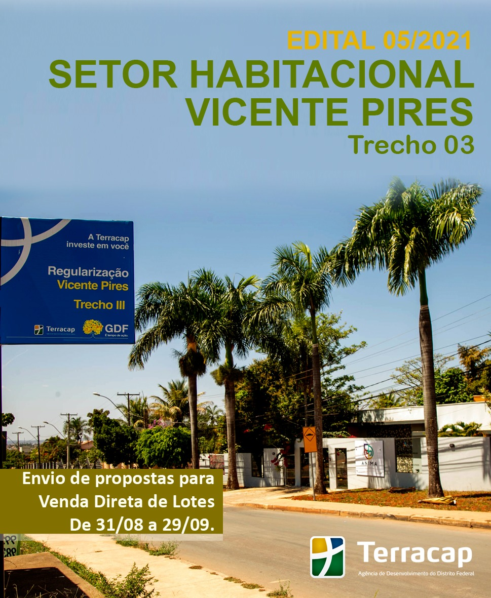 Edital 05/2021 - Venda Direta Vicente Pires Trecho 3