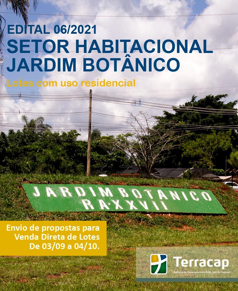Edital 06/2021 - Venda Direta Jardim Botânico