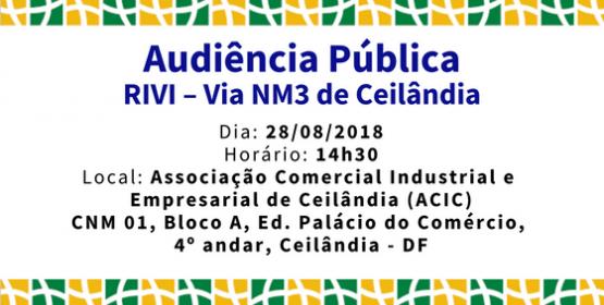 Audiência Pública - RIVI - Via NM3 de Ceilândia